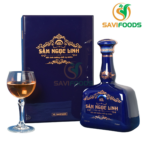 Rượu sâm ngọc linh chai màu xanh