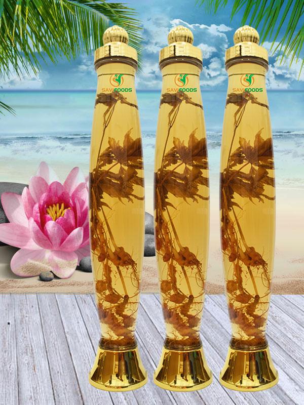 rượu sâm ngọc linh ngâm bình thủy tinh 4.2 lít