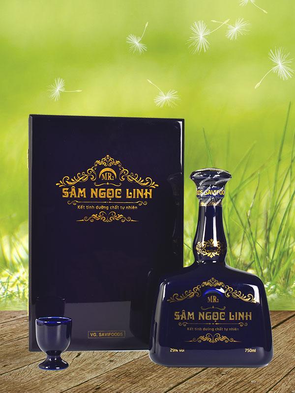 Rượu sam ngọc linh mr2 chai màu xanh