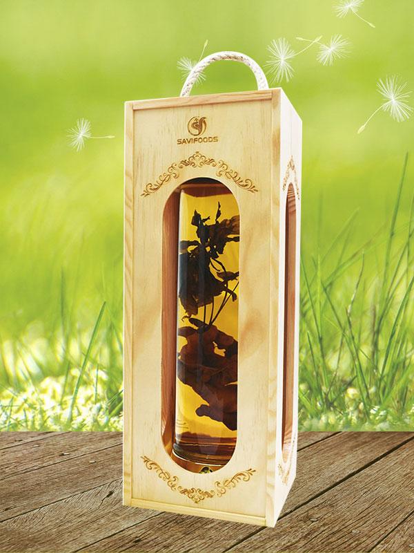 rượu sâm ngọc linh ngâm bình thủy tinh 2.1 lít